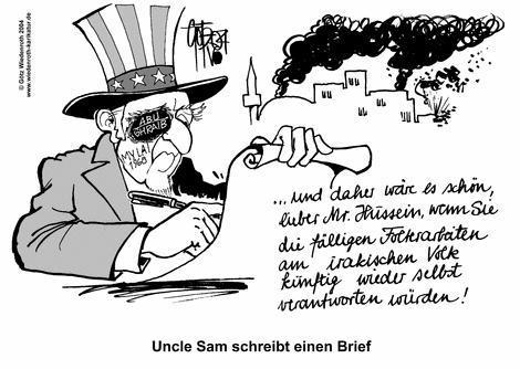 Uncle Sam schreibt einen Brief...
